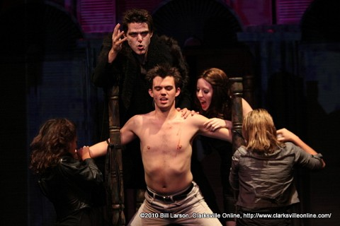 The cast of Dracula the musical performing the song Fresh Blood