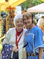 "WWII Vet ""Mama"" Billie Denu (left) with Mary Anne Plante (Right)"