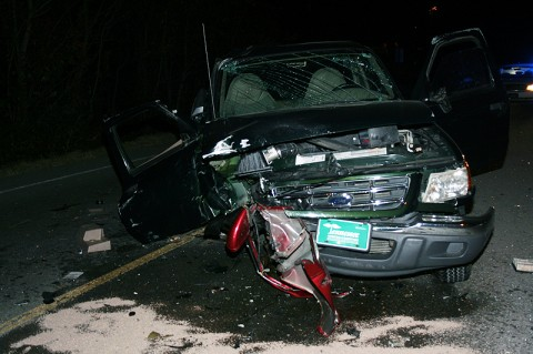 Overnight Crash Sends Two to Vanderbilt. (Photo Courtesy of Deputy James Derico (MCSO))
