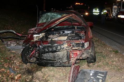 Overnight Crash Sends Two to Vanderbilt. (Photo Courtesy of Deputy James Derico (MCSO))