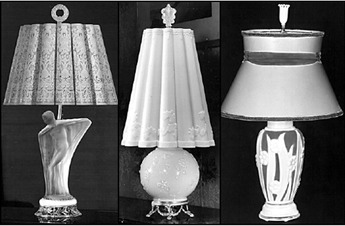Electric Lamps Manufactured By The Aladdin Mantle Lamp Company