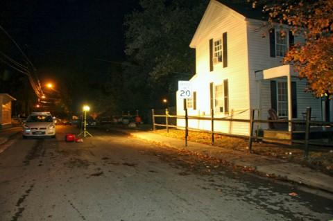 Crime scene area.