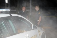 Officer Ortiz and Officer Skinner safeguarding the scene.