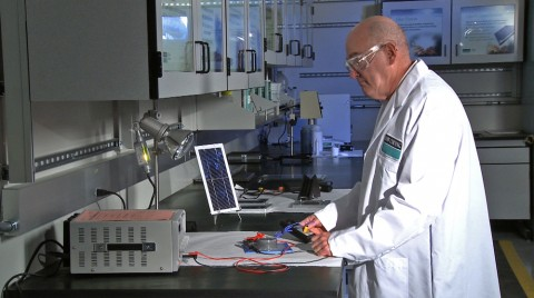 Dow Corning researchers work on next generation solar technologies.