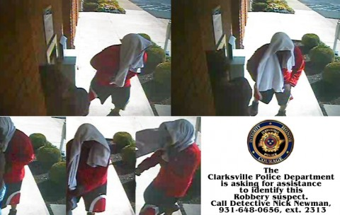 The Clarksville Police Department is asking for assistance to identify a Robbery suspect.