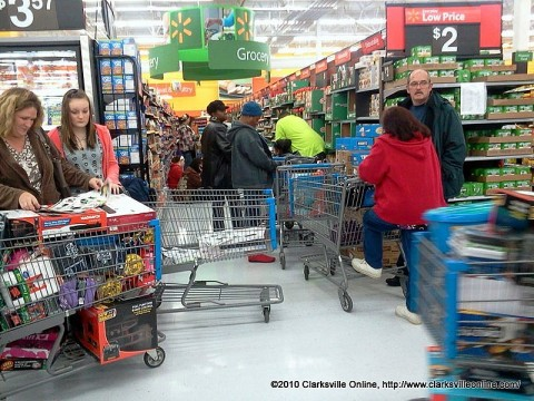 Shoppers waiting for the start of the Black Friday sales at Walmart