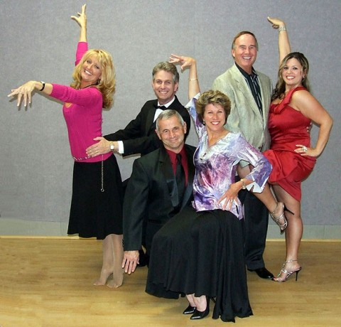 "Local competitors vying for Altrusa ""Dancing with the Stars"" of Clarksville are (L to R): Sandra Ford, Jim Knoll, Conrad Edington, Kim McMillan, Ronnie Hunter and Britney Campbell."