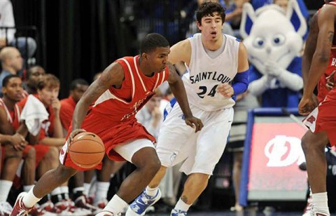 Josh Terry led the Governors with 18 points against St. Louis University. Photo courtesy of Bill Barrett. (Courtesy: Austin Peay Sports Information)