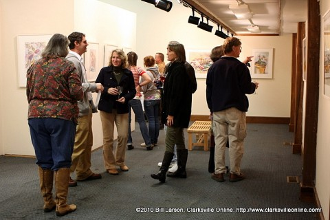 Clarksvillians enjoying the November 2010 Artwalk at the Downtown Artists Coop