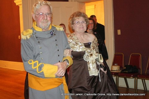 Author Sue Culverhouse and her husband Bill at the Civil War Ball
