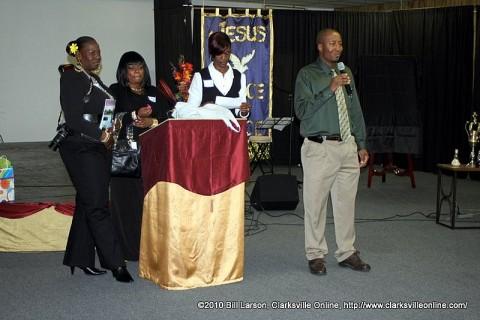 L.E.A.P founder Richard Garrett addresses the attendees