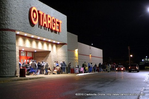 The Line outside of Target early Friday morning