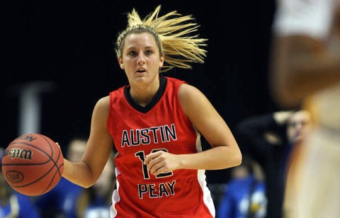 Whitney Hanley made all eight of her three-point field goals to lead Austin Peay past Cumberland, Monday. (Courtesy: Keith Dorris/Dorris Photography)