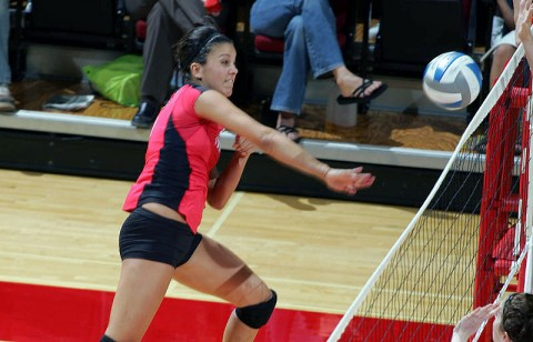 Junior Ilyanna Hernandez led Austin Peay with 15 kills in Saturday's loss at Louisville. (Courtesy: Keith Dorris/Dorris Photography)