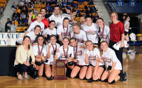 Lady Govs, 2010 OVC Volleyball Champions. (Photo by Guy Huffman/Morehead State)