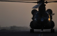 Two Bravo Company, 5th Battalion, 158th Aviation Regiment, 12th Combat Aviation Brigade Chinooks deliver supplies to ground forces throughout Southern Afghanistan. (Photo by Sgt. 1st Class Sadie Bleistein, 101st Combat Aviation Brigade)