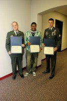 Anderson, Dillard, and Hartbarger with their Mayor Certificates