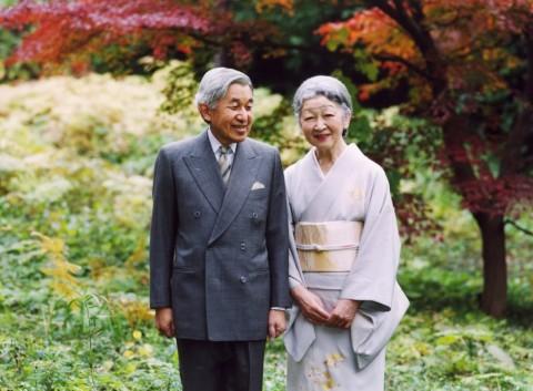 The Japanese Emperor Akihito and and Empress Michiko