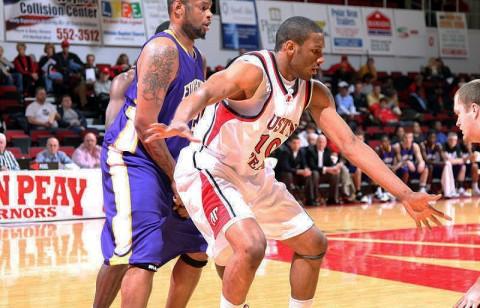 Freshman Will Triggs grabbed a team-best nine rebounds against Brescia. (Courtesy: Austin Peay Sports Information)