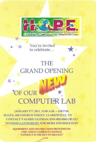 Computer Lab Grand Opening