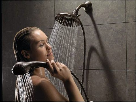 Showers are used as a way to relax and are a more affordable alternative to a pricey massage, although affluent consumers shower more often than low-income consumers. (Delta Faucet Company)