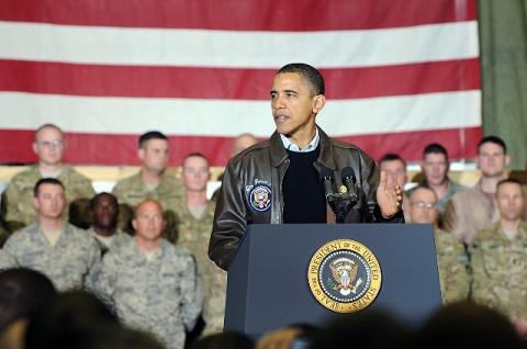 President Barack Obama visits Bagram Airfield, Afghanistan. (Photo by U.S. Army Sgt. David House, 17th Public Affairs Detachment)