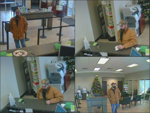 Photos of the Regions Bank Robbery Suspect.