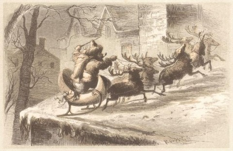 A Visit from Saint Nicholas - Drawing by F.O.C. Darley