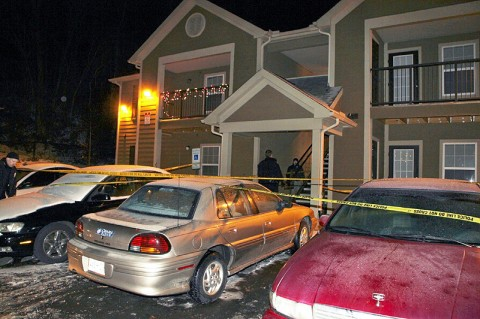 500 Kraft Street Apartment where shooting took place - (Photo by CPD-Jim Knoll)
