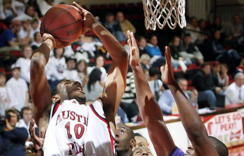 APSU Men's Basketball. (Photo Courtesy: Austin Peay Sports Information)