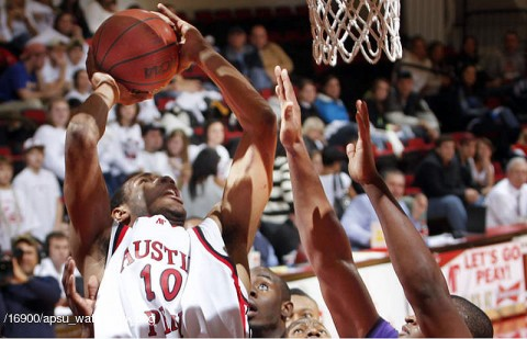 APSU Men's Basketball. (Photo Courtesy: Austin Peay Sports Information)