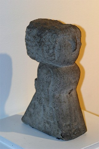 """William Edmondson Sculpture """"The Lady with Two Pocketbooks""""."""