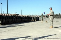 159th Combat Aviation Brigade Commander Colonel Kenneth T. Royar addressing the gathered soldiers