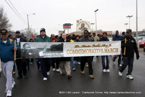 An image from the 2011 Dr. Martin Luther King Jr Day March