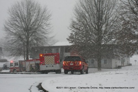CFD responds to a reported fire on Hawkins Road.