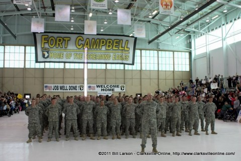 Elements of the 1st Squadron, 33 Cavalry Regiment, 3rd Brigade Combat Team , 101st Airborne Division (Air Assault) safely back home