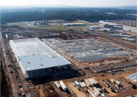 Nissan Progresses Construction of Electric Vehicle Battery Plant in Smyrna, Tennessee. (Nissan North America, Inc.)