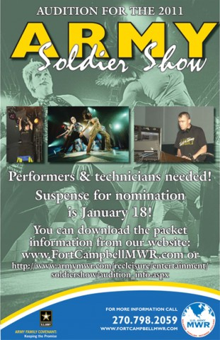 Nominations for the 2011 Army Soldier Show