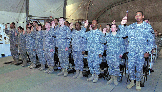 Soldiers mark official Induction to NCO corps during ...