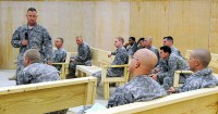 "U.S. Army Chaplain Maj. Randall H. Robison of Grand Prairie, Texas, brigade chaplain with 4th Brigade Combat Team, 101st Airborne Division, talks to Soldiers about having the spiritual strength to overcome adversity and stress and maintaining the ability to ""come back stronger"" at Forward Operating Base Sharana Jan. 9th. (Photo by U.S. Army Sgt. Luther L. Boothe Jr., Task Force Currahee Public Affairs)"