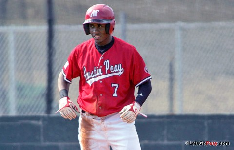 Freshman outfielder Rolando Gautier's leadoff triple in the ninth set up the Govs game-winning play, Saturday, against Illinois State. (Keith Dorris/Dorris Photography)