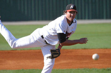 Senior right-handed pitcher Ryne Harper is one of three returning starters on the Governors staff this season. (APSU Sports Information)