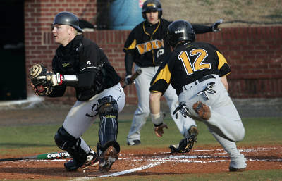 Trey Lucas was the Govs primary catcher the past two seasons. This season the Govs will turn to a senior and three freshmen to fill his shoes. (APSU Sports Information)