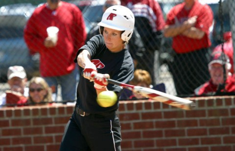 Junior Catie Cozart had a double and a triple against Ole Miss. (Austin Peay Sports Information)