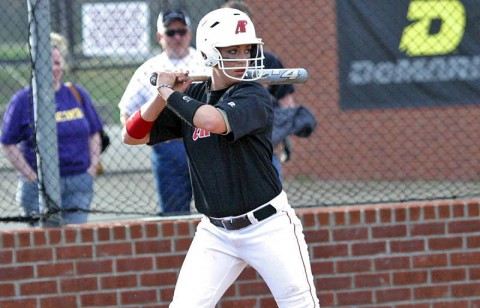 Amy Mills had three hits, including a home run on Saturday at Red and Blue Classic. (Austin Peay Sports Information)