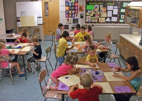 East Montgomery Elementary students in teacher Catherine Jackson's art classes enjoy creative moments.