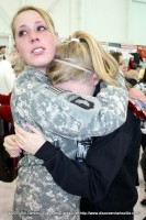 A soldier and her sister share the joyful pain of reunion
