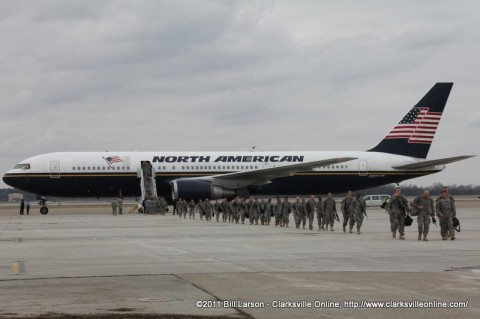 The last large flight carrying the soldiers of the 3rd Brigade Combat Team home.