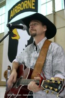 Thom Shepherd playing for the soldier's families