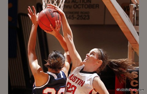 Senior Brooke Faulkner scored 16 second-half points to lead Austin Peay past UT Martin, Thursday night. (Photo Courtesy: Austin Peay Sports Information)